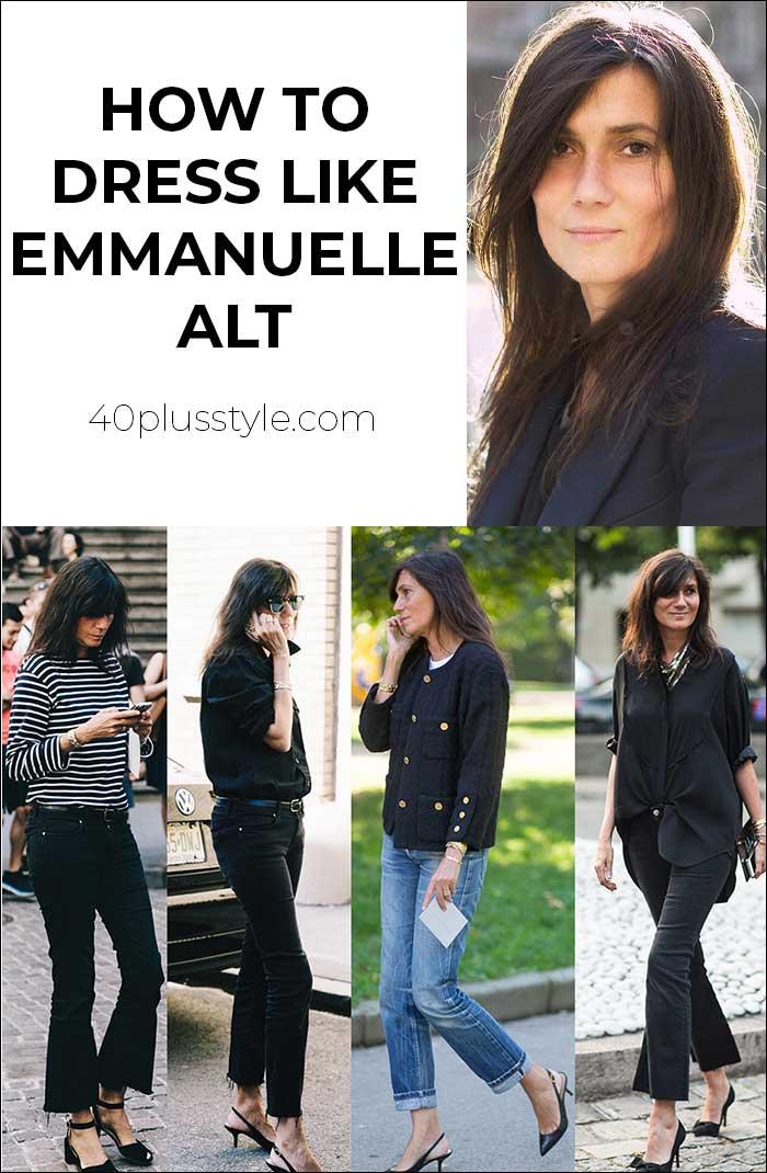 How to dress like Emmanuelle Alt | 40plusstye.com