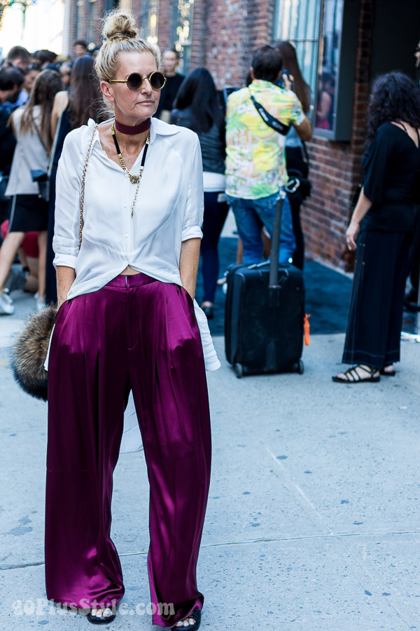 Streetstyle inspiration: 3 wide legged pants outfits - which is your favorite? | 40plusstyle.com