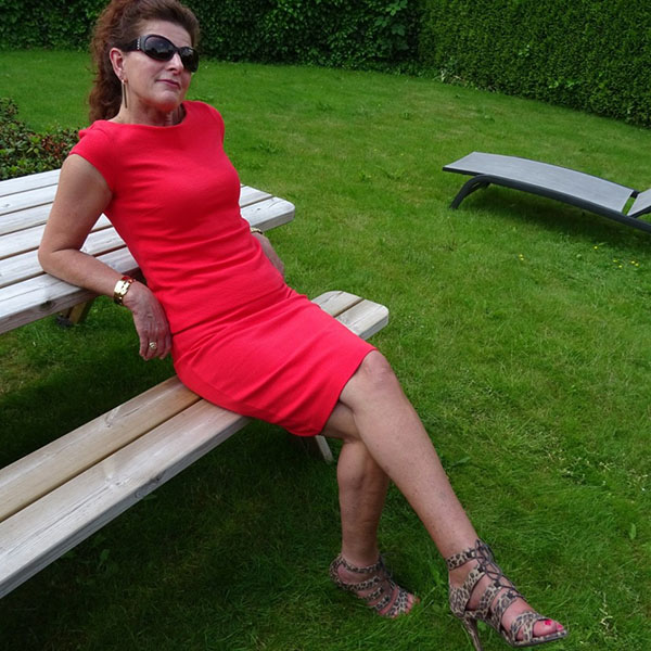 A timeless red dress outfit with animal print heels | 40plusstyle.com