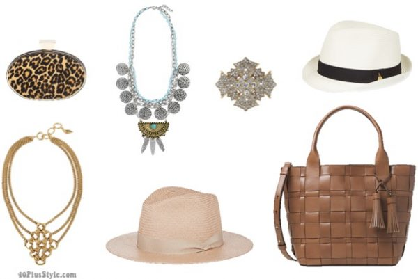 How to dress like Lauren Hutton: Lauren's signature accesories from panama hats to printed clutches| 40plusstyle.com