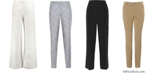 How to dress like Christine Lagarde style guide: wide leg tailored pants | 40plusstyle.com