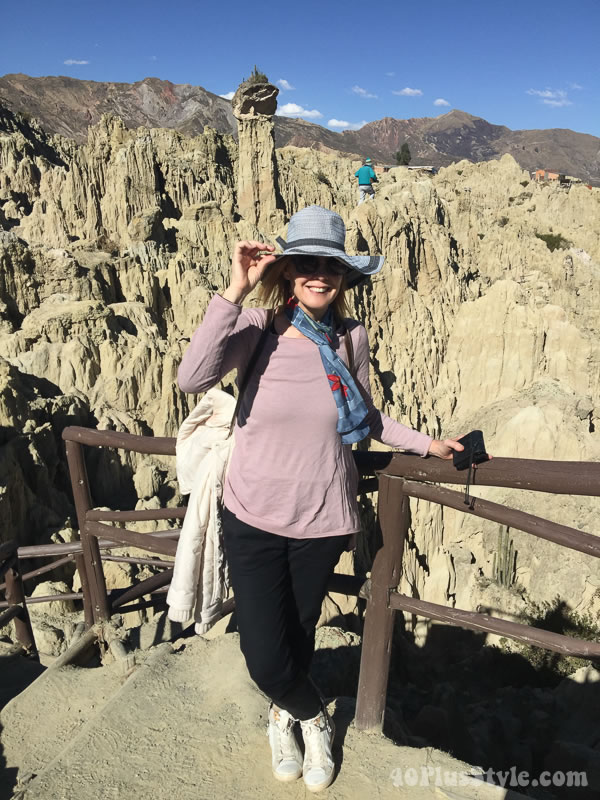 What to wear in La Paz: Layering with jackets and scarves   40plusstyle.com
