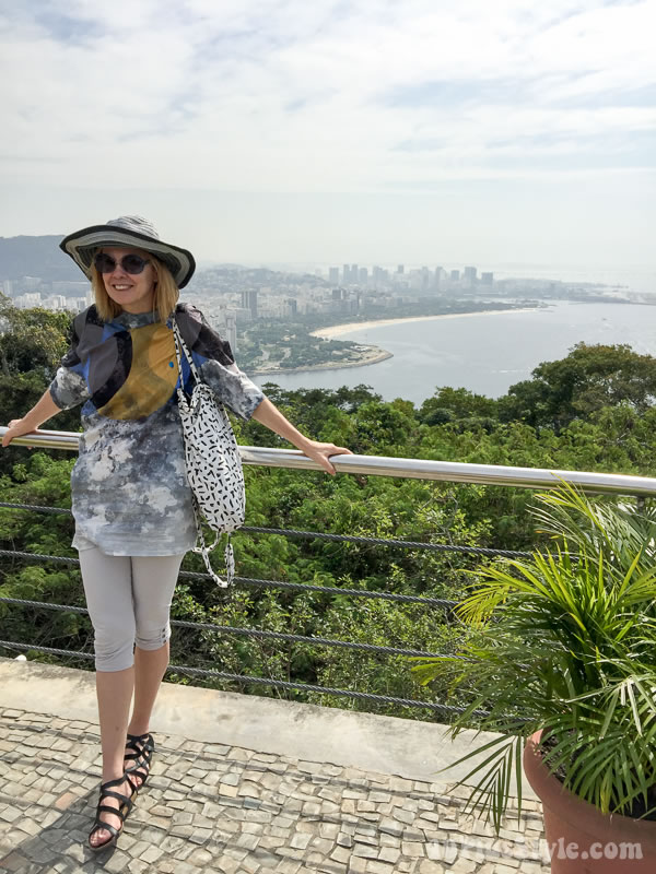 Fun and chic outfit idea for Brazil: gladiator sandals   40plusstyle.com