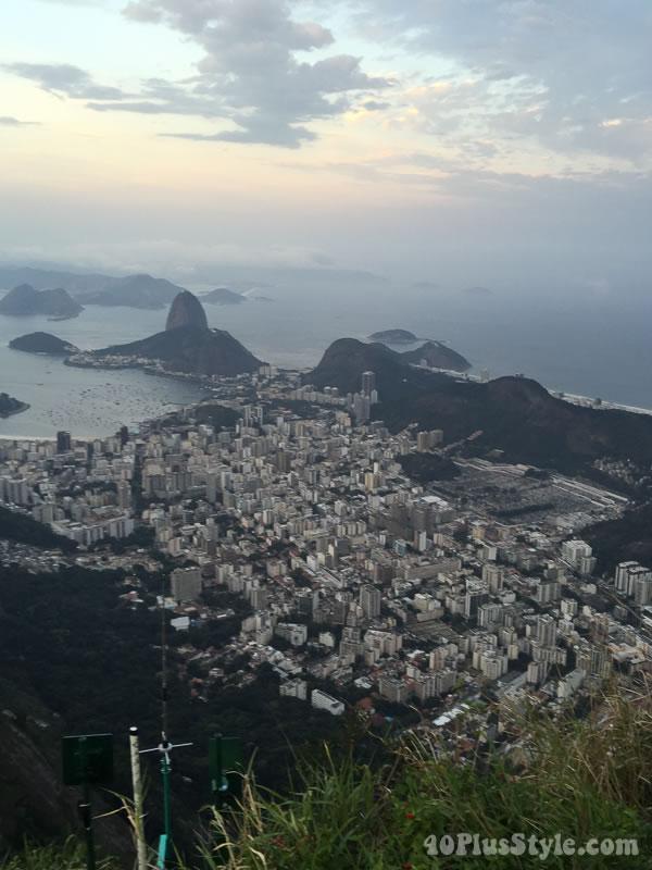 Overlooking the city of Rio de Janeiro | 40plusstyle.com