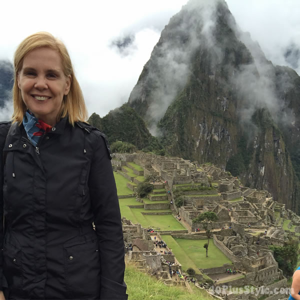 Machu Pichu travel tip: wind jackets | 40plusstyle.com