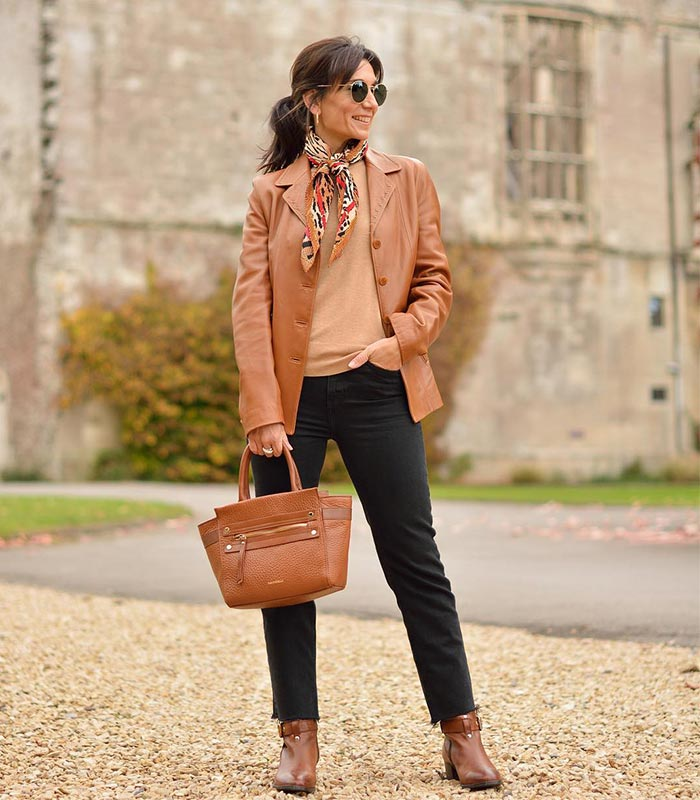 A capsule wardrobe featuring tan and camel