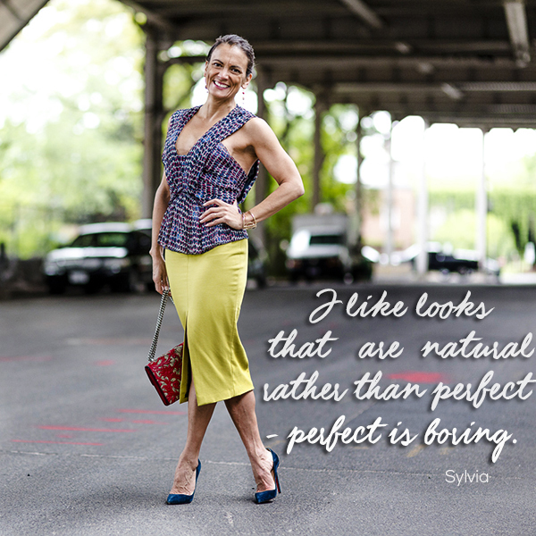 Simply Sylvia style quote   40plusstyle.com