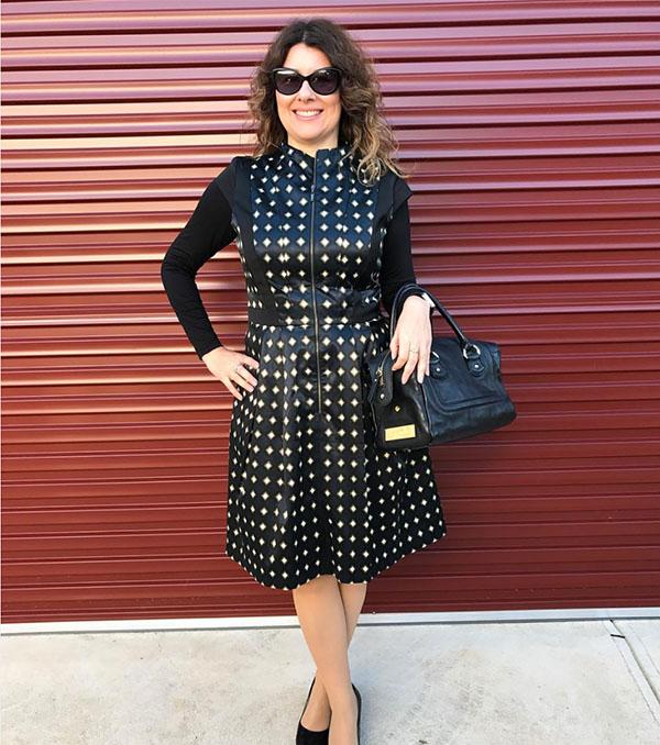 40plusstyle inspiration: stylish black dress | 40plusstyle.com