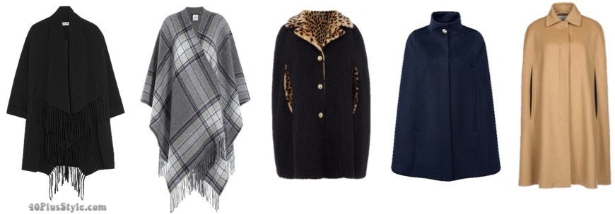 The best coats for fall: cape styled coats   40plusstyle.com