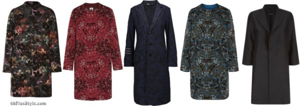 The best coats for fall: Jacquard coats | 40plusstyle.com