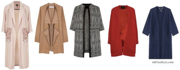 The best coats for fall: chic open-front coats picks | 40plusstyle.com