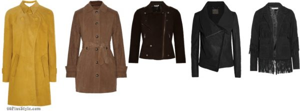 The best coats for Fall: chic suede and 70's inspired coats for Fall 2016  40plusstyle.com