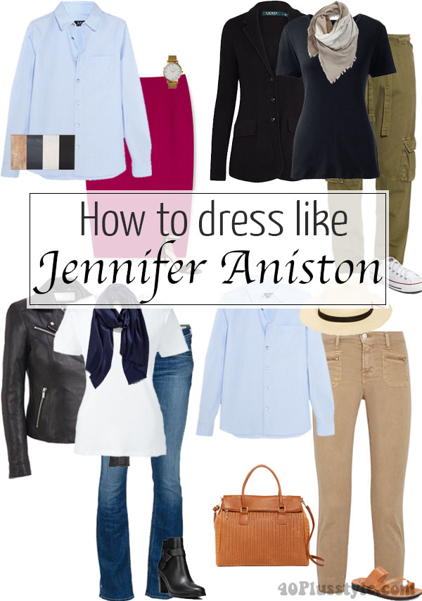 How to dress like.. Jennifer Aniston | 40plusstyle.com