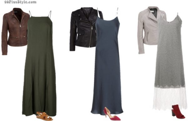 7 different ways to wear a slip dress over 40 | 40plusstyle.com