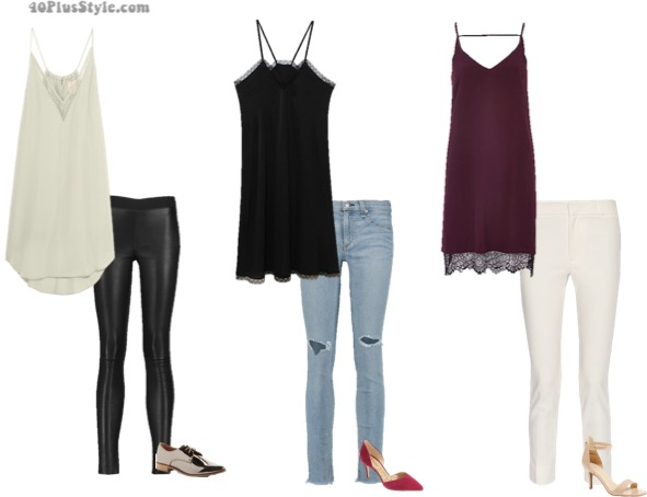 How to wear a slip dress 7 different ways | 40plusstyle.com