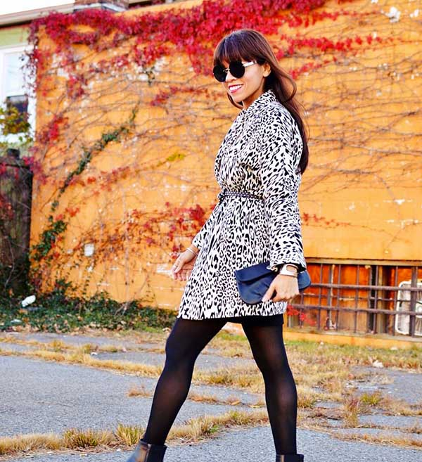#40plusstyle Inspiration: chic animal print outfit for winter and fall | 40plusstyle.com