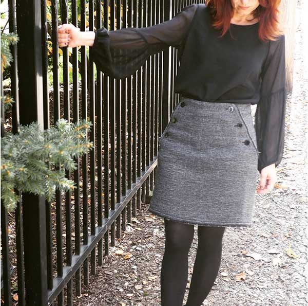 #40plusstyle Inspiration: black and grey outfit | 40plusstyle.com