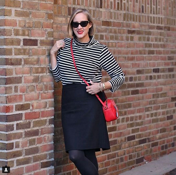 #40plusstyle Inspiration: parisian style with leggings   40plusstyle.com