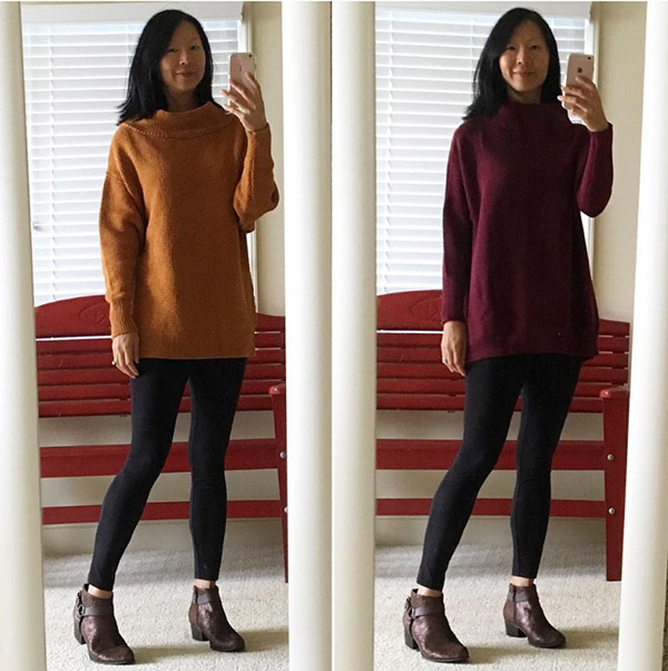 #40plusstyle Inspiration: leggings and sweaters | 40plusstyle.com