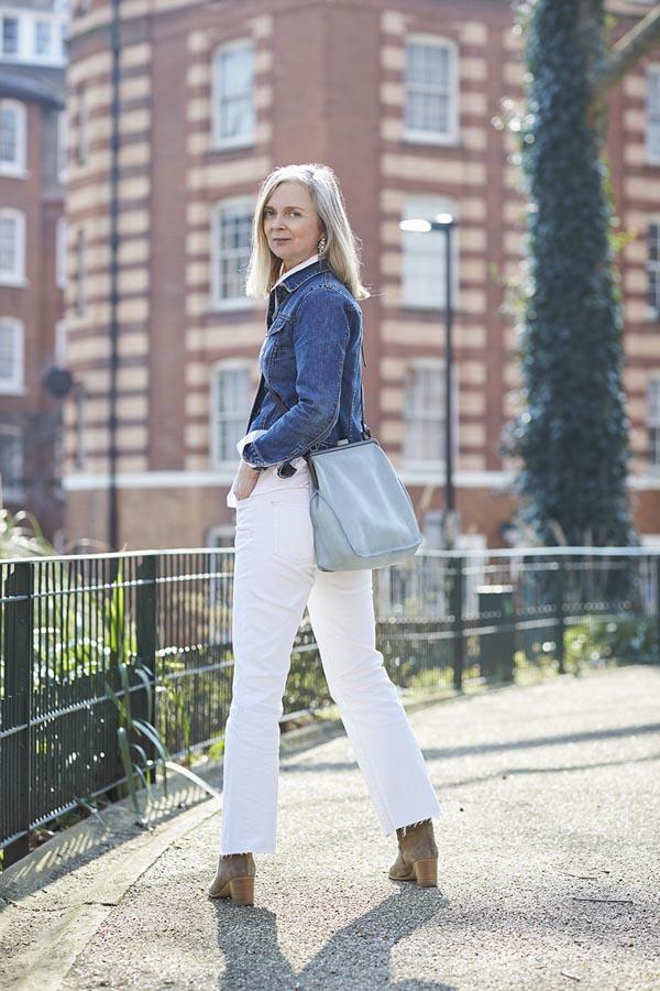 Denim jacket outfit idea | 40plusstyle.com