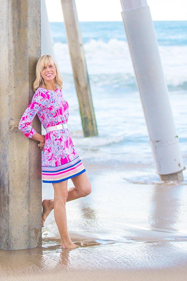 Boho chic: 70's inspired dress | 40plusstyle.com