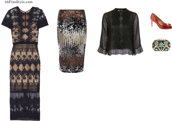 capsule wardrobe: evening dress and skirts | 40plusstyle.com