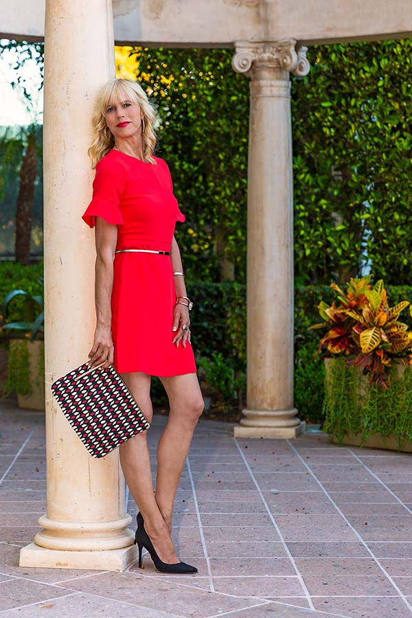 Chic in the city: Lady in the red dress | 40plusstyle.com