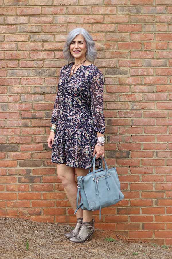 Paisley pattern dress | 40plusstyle.com
