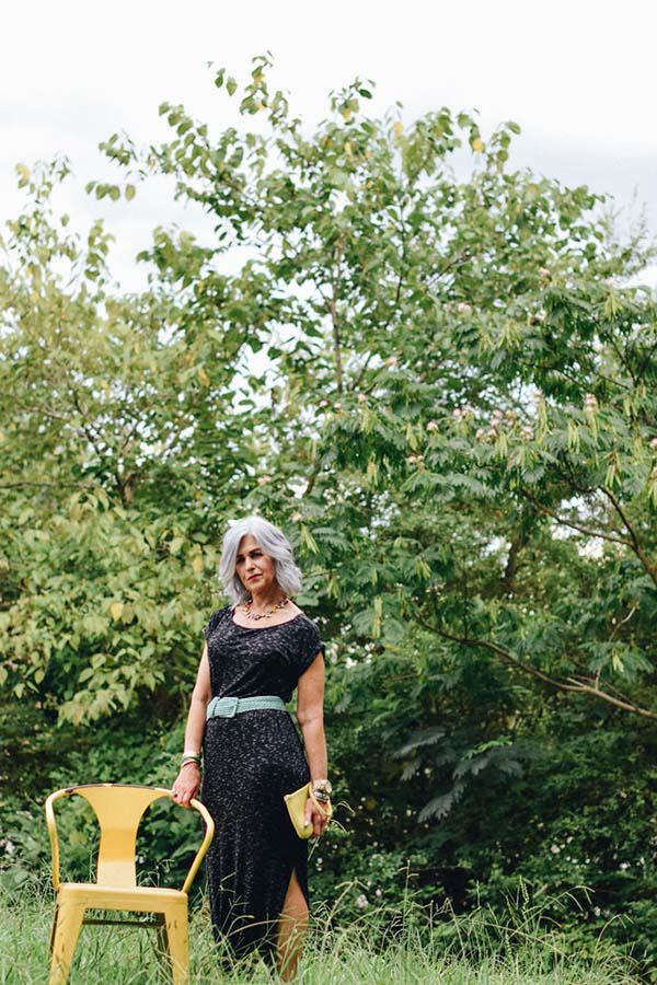 Classic little black dress with a pop of color | 40plusstyle.com