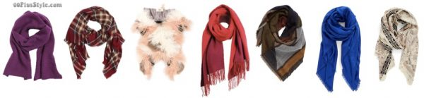 How to look fashionable in winter: statement scarves | 40plusstyle.com