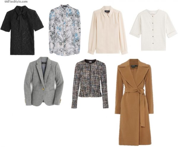 How to dress for work: Sweaters, blouses, and coats for women who work | 40plusstyle.com
