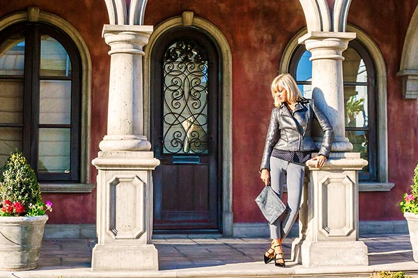 City style: Leather jacket outfit | 40plusstyle.com