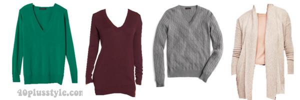 classic capsule wardrobe sweaters 40plusstyle.com