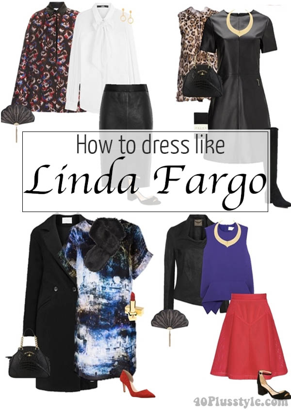 How to dress like Linda Fargo - a 10 outfit capsule wardrobe | 40plusstyle.com