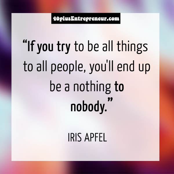 Inspirational quote by Iris Apfel | 40plusstyle.com