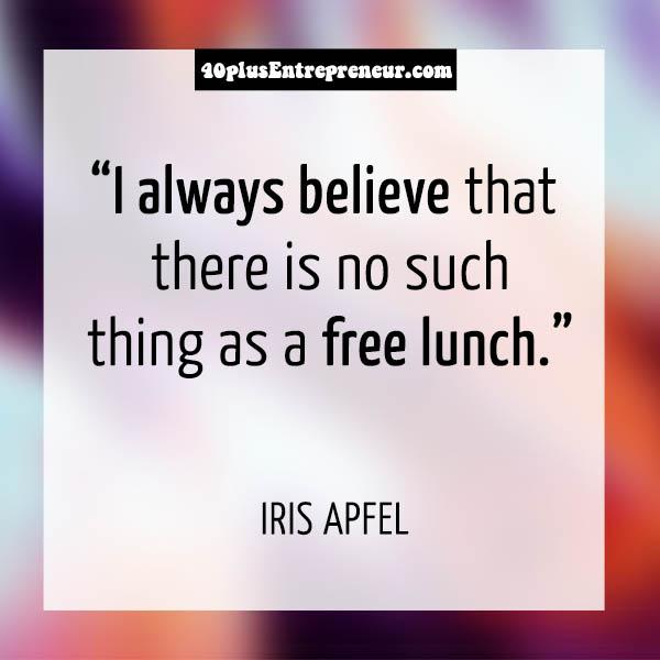 Iris Apfel personal quotes   40plusstyle.com