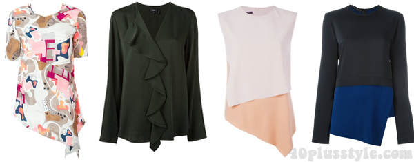 Layer asymmetrical tops | 40plusstyle.com