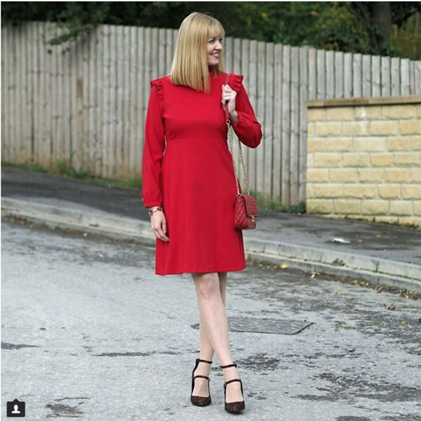 #40plusstyle inspiration: red holiday dress | 40plusstyle.com