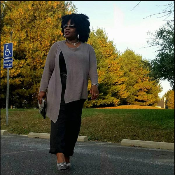 #40plusstyle inspiration: asymmetrical sweater with a dress | 40plusstyle.com