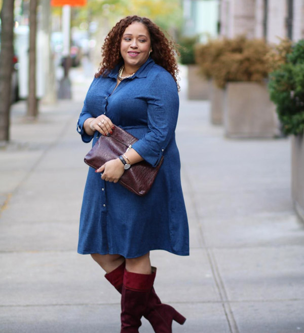 #40plusstyle inspiration: red boots with a dress | 40plusstyle.com