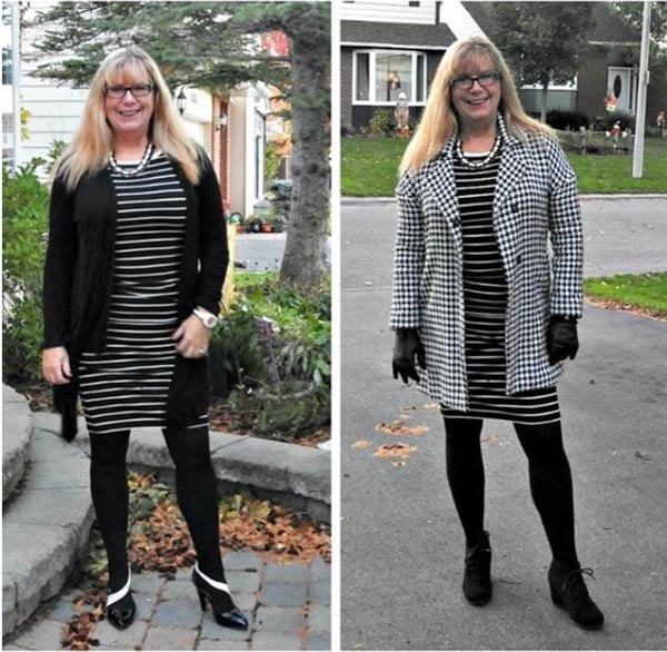 #40plusstyle inspiration: stripes with prints outfit | 40plusstyle.com