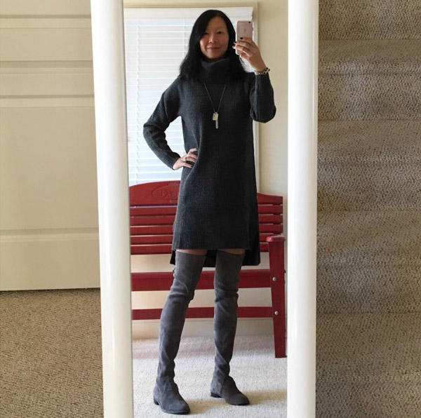 #40plusstyle inspiration: sweater dress | 40plusstyle.com