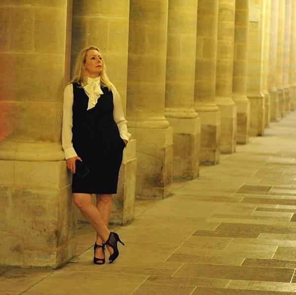 #40plusstyle inspiration: ribbon collar dress   40plusstyle.com