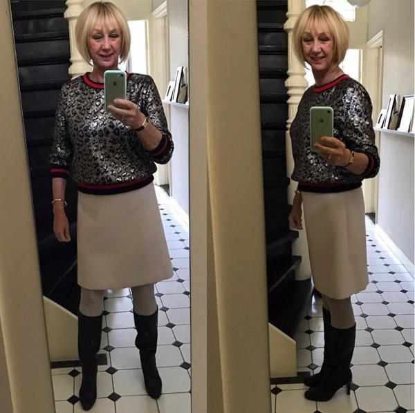#40plusstyle inspiration: white skirt   40plusstyle.com