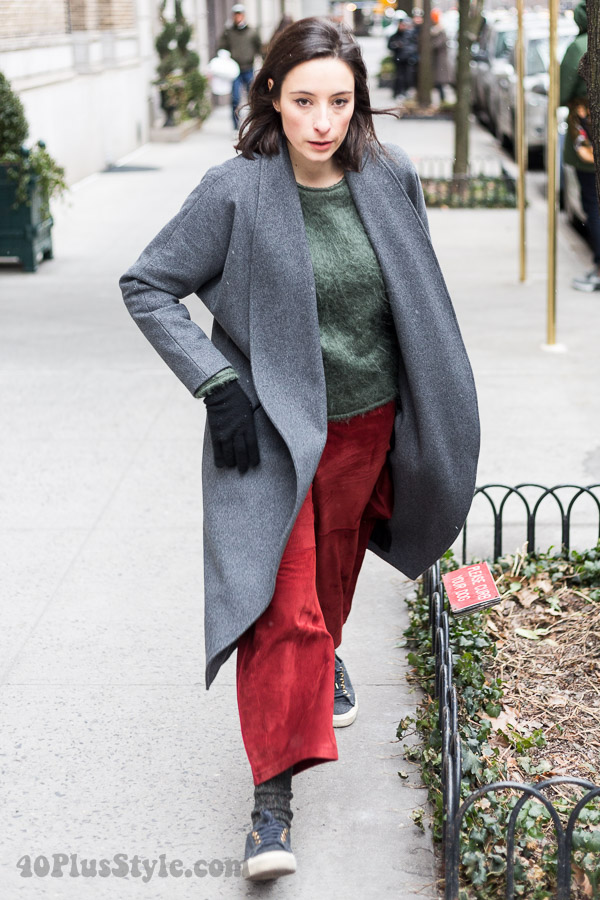 Winter outfits: Chic grey cocoon coat | 40plusstyle.com