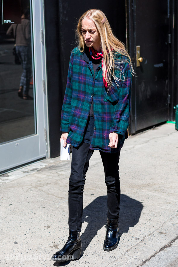 Green plaid coat | 40plusstyle.com