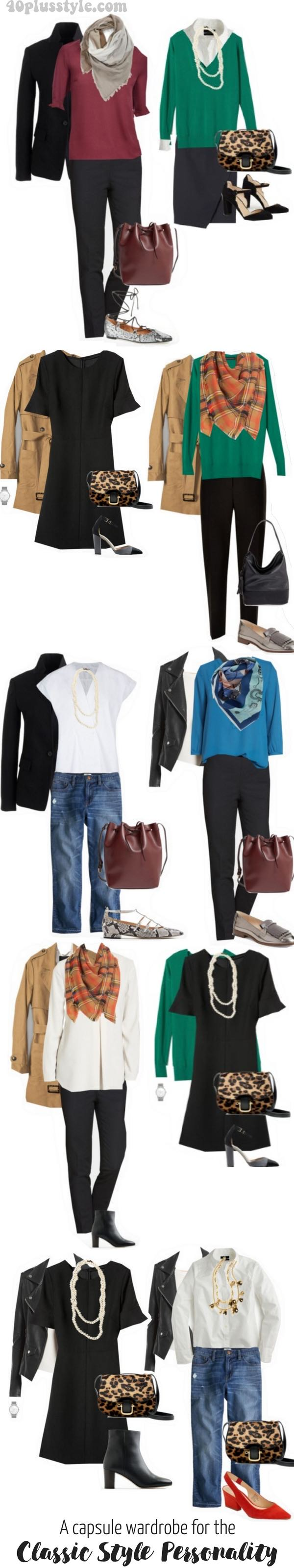 A capsule wardrobe for the classic style personality.
