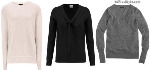 Versatile cashmere sweater | 40plusstyle.com