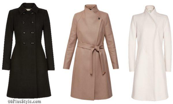 winter capsule wardrobe: wool coat basics | 40plusstyle.com