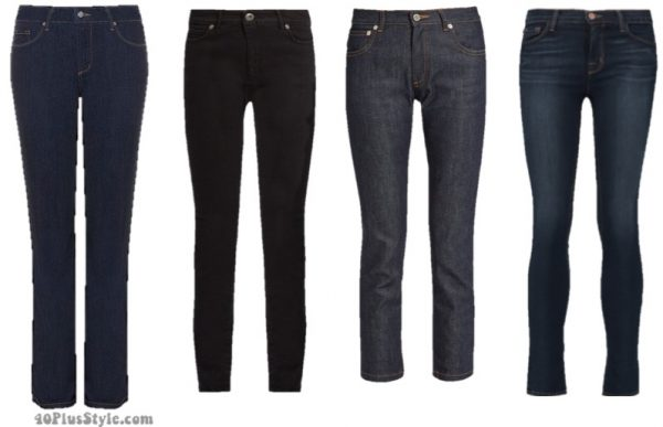 winter capsule wardrobe: dark wash jeans basics   40plusstyle.com